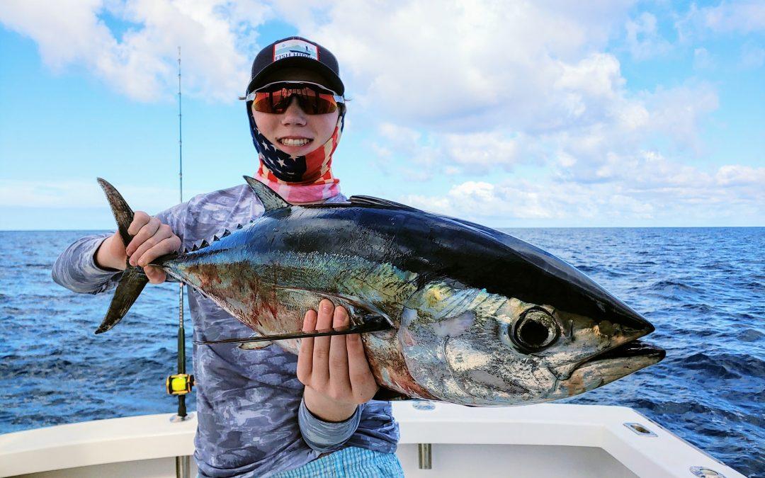 black fin tuna catch